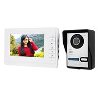 Wholesale Hd Peephole Camera - 7 Inches Digital HD Wired Doorbell Camera Video Intercom Door Phone System Wide Angle Peephole Viewer