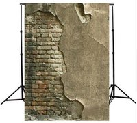 Wholesale Photography Background Wall Prop - 3x5FT Crack Gray Wall Brick Wall Photography Background For Studio Photo Props Thin Photographic Backdrops cloth 90 x 150cm