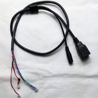 video pcb toptan satış-Ağ RJ45 DC 12 V Güç Bağlantı Noktası Konektörü CCTV IP Güvenlik Kamera Modülü Kesit Kurulu PCB Kablo Hatları RJ45 Güç Konektörü