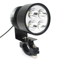 Wholesale Universal Bike Headlights - LEEWA 12V-85V Universal Motorcycle E-bike 20W LED Modified Headlight Lamp Black SKU:1710