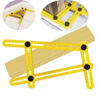 Wholesale Plastic Tile Floors - Multi-Angle Ruler Angle-izer Template Tool Angleizer Angle Template Tool Multi-Angle Ruler Flooring Template Tool CCA6182 100pcs
