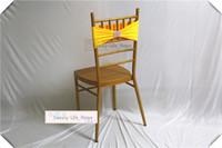 ingrosso giallo sedia gialla-Giallo 20cm * 35cm / Chiavari Chair Lycra Chair Band Stretch Elastico Spandex Chair Bow con fibbia Banchetto di nozze Decorazione del partito