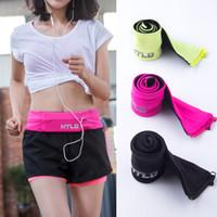 Wholesale Thin Waist Bag - Sport Waist Bag Invisible Thin Cell Phone Zipper Bag Jogging Bag Women & Men Fitness Gym Sports Running Belt Waist Zero Purse