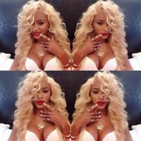 Wholesale Blonde Wavy Wig Human Hair - Peruvian Human Hair Blonde Full Lace Wigs wavy 613 Lace Wig Blonde Color Lace Wig Human Hair Wigs White Women