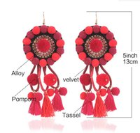 Wholesale Red Barbell Earrings - 2017 new titanium stainless steel single round cake black needle Earrings barbell Earrings Korean fashion explosion