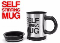 Wholesale green coffee mugs wholesale - self stirring Coffee Cup 10pcs Automatic Mixing coffee Tea cup stainless steel coffee Cup Drinking mug
