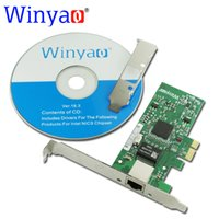 Wholesale Intel Ethernet Adapter - Wholesale- Winyao WY573T PCI-E X1 RJ45 Gigabit Ethernet network card Adapter NIC 10 100 1000M for Intel 82573 1G Lan