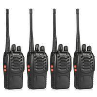 Wholesale Ham Radio Wholesale - Wholesale- 4pcs BaoFeng BF-888S Walkie Talkie UHF400-470MHZ Portable Ham baofeng 888s CB Radio