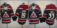 Wholesale Hockey Sweaters - Colorado Avalanche #19 Joe Sakic Hoodie 2017 ICE Hockey Hoodies Sweaters Pullover Hooded Sweatshirts Jerseys