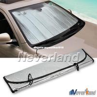 aluminio reflectante al por mayor-Universal Reflective Car Papel de aluminio Parabrisas Sombrilla Ventana frontal Sombrilla Parabrisas Protector de pantalla UV Protect D10