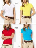 Wholesale New Style Fashion Women Shirt - 2017 New Brand Summer Big Horse Embroidery Polo Fashion Short Sleeve Women Polo Shirt For Men Clothing Tops Casual Polo Shirts Jerseys Woman