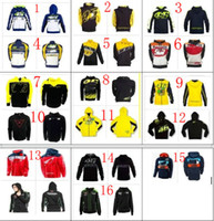 Wholesale Men S Moto Jacket - Free shipping 16 Clour 2017 HOT Motorcycle Motocross casual hoodie for Rossi VR46 Large 46 Factory Racing Team Moto GP sweatshirt Jackets