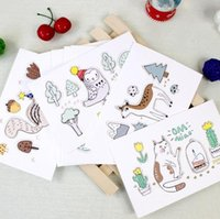 Wholesale Hot Greeting Cards - 80pcs  Lot Hot Cartoon Forest 3d Card Creative Relief Applique Birthday Day Greeting Cards Universal Christmas Card Envelope 0175