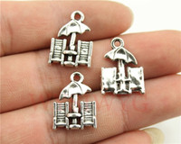 Wholesale Antique Beach Chair - Wholesale-WYSIWYG 9pcs lot 20*14mm antique silver plated beach chairs charms