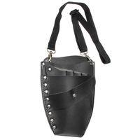 Wholesale Scissors Holster Belt - 1Pcs Leather Hairdressing Case Tools Scissor Bag Barber Holster Pouch Holder Rivet Purse Adjustable Waist Shoulder Belt M0020