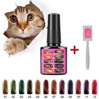 Wholesale z magnets resale online - Lily angel ml D Cat Eyes LED UV Gel Polish Soak Off Gel Nail Polish Magnetic Nail Gel Free to send cat s eye magnet Z