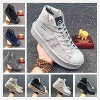 Wholesale Ankle Boots 11 Men - 2017 Hot Sale Men Originals Owens Superstar Mastodo Black White Leather Boots Top Quality Autumn Winter Ankle Boots Free Shipping Size 7-11