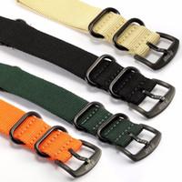 Wholesale Shark Brand Wrist Watch - Wholesale- Shark Army Brand 22mm Width 1pc Band Nylon Fabric Replacement Belt Watchband Comfortable Men Wrist Sport Watch Strap  WTL067-069