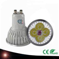 Wholesale Mr16 Pure White - New Arrival 12W GU10 E27 MR16 4X3W CREE LED Downlight Energy-saving Pure Cool Warm White Light Bulb Spotlight