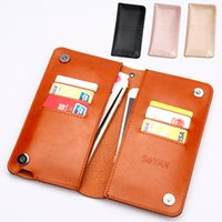 Wholesale universal cell phone wallet purse online – custom Universal Less quot Fashion Mobile Cell Phone PU Leather Protective Case Cover Purse Wallet Handbag