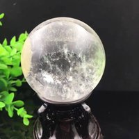 Wholesale Quartz Clear Crystal Ball Sphere - 50mm NATURAL CLEAR QUARTZ CRYSTAL SPHERE BALL HEALING GEMSTONE