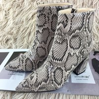 Leopard Print Sexy Women Boots Zipper Fashion Shoes Donna Dress Stivaletti Soft Leather Lady Shoes Stivaletti 41