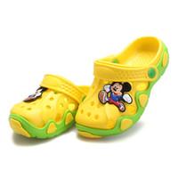 Wholesale Green Flower Girl Shoes - Summer Children Shoes Girls Boys Slippers Cute Cartoon Comfortable Fashion Kids Slippers Anti-Slip Girls Slippers Beach Shoes