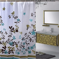 Wholesale floral shower curtains resale online - Floral m Waterproof PEVA Shower Bathroom Curtain With Hooks Bathing Shower Curtain Fabric Home Bathroom Curtains GI870645