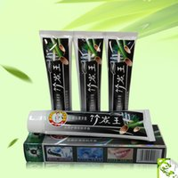Wholesale toothpaste wholesale supplies - Charcoal Toothpaste Whitening Black Toothpaste Bamboo Charcoal Tooth Whitening Teeth Whitener Oral Hygiene Products Supplies 105g