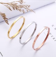 Wholesale Gold Plated Jewelry Supplies - Factory direct supply rose gold titanium steel bracelet women do not fade anti-allergy bracelet jewelry wholesale