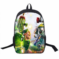 Wholesale Pocket Plant - Wholesale- 2016 Plants vs Zombies Teenager Backpack School Student Boys Backpacks For Men Bags Daily Travel Bags Kids PVZ School Backpack
