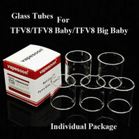 Wholesale Atomizer Tank Tubes - 100% Original Vapesoon Tank Replacement Pyrex Glass Tube For SMOK TFV8 Big X Baby TFV12 NRG Cleito 120 Nautilus VALYRIAN Atomizers