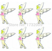 Wholesale Metal Tinkerbell Charms - New TinkerBell Metal Charm pendants Jewelry Making Party Gifts xtie2602
