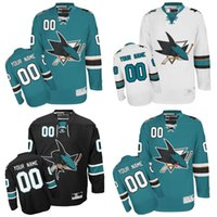 Wholesale cheap custom hockey jersey - Custom Men's San Jose Sharks Jerseys Authentic Customized Sharks personalized Any Name Any Number Cheap Hockey Jerseys Stitched Logos