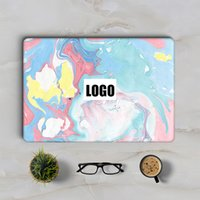 Wholesale Laptop Notebook Skin Decal - Fancy Mixed Colors Marble Grain Laptop Skin Sticker for Macbook Decal Air Retina Pro 11 12 13 15 inch Mac Mi Book Notebook Full Cover Skin