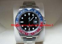 relojes de hombre rojo de alta calidad al por mayor-Relojes para hombre de lujo de alta calidad para hombres automáticos 40 mm 116719 18K Oro blanco Azul Rojo (Pepsi) Bisel