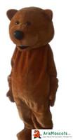 gerçek kıyafet kostümleri toptan satış-100% gerçek fotoğraflar Güzel Kahverengi teddy Bear maskot kostüm Hayvan maskotlar fantezi elbise kostümleri reklam maskotları karnaval parti elbise