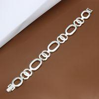 Wholesale Plated Spring Ring Clasp - Free shipping Wholesale 925 Sterling silver plated Spring-ring-clasps charm bracelets LKNSPCH344
