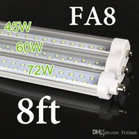 Wholesale T8 Lights Discounted - BIG DISCOUNT ! US STOCK, + 8 feet led 8ft single pin t8 FA8 Single Pin LED Tube Lights 45W 4800Lm 8ft LED Fluorescent Tube Lamps AC85-265V