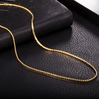Wholesale Men S Gold Chain Necklace - New Fashion Necklace S Shape 1.5MM 450MM 18K Yellow Gold Rose Gold Plated Chain Necklace for Women Men Jewelry NL-135