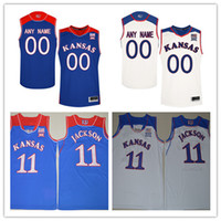 Wholesale Kansas Royals Jersey - Custom Mens Kansas Jayhawks College Basketball royal blue white Personalized Stitched Any Name Number customized #22 #11 Jerseys S-3XL