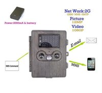 HT-002LIM 1080P 12MP HD IR versión de la noche Wildlife GPRS / MMS Caza Trail Camera Recorder con 3000mA Lion Battery Panel solar opcional