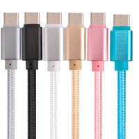 1M 2m 3m Thicker USB Tipo C Cable Nylon Line Metal Plug Type-C Cable USB para MacBook Xiaomi 4C para Samsung LG G5