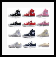 Wholesale Pink Top Small Lace - Small village ship size35-45 men's wear low-top & high support adult women's canvas shoes 13 color sports star chuck's casual shoes