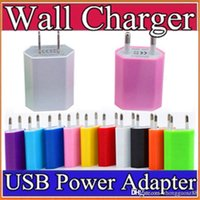Wholesale Ipad2 Mini Chargers - 100X 5V 1A Color EU US Plug USB Wall Charger AC Power Adapter for iphone 6 6S 7 Plus ipad mini S5 S4 ipad2 USB cell phone tablet pc C-SC