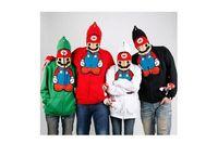 Wholesale Super Cute Coats - Fashion Unisex Cute Super Mario Hoodie Stylish Outwear Warm Funny Jacket lovers Coat M-XXXL 4 Color Free Shipping