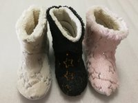 Wholesale Ladies Leather Boots Wholesale - Brand slippers boots ladies slippers indoor slides girls fashion decoration black white pink fur slides no box high quality