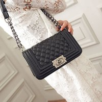 Wholesale Sheepskin Handbags - 2017 Vintage Handbags Women bags Designer handbags wallets for women fashion sheepskin leather chain bag shoulder bags