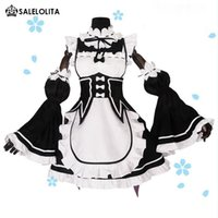 Wholesale Ram Rem Cosplay Re zero Kara Hajimeru Isekai Seikatsu Re Life In a Different World Kawaii Sisters Costume Maid Servant Dresses