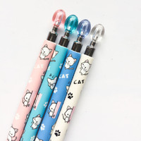 Wholesale Cute Stationery Mechanical Pencils - Cute Kawaii Lovely Cat & Paw Press Mechanical Pencil Writing School Office Supply Student Stationery Automatic Pencil
